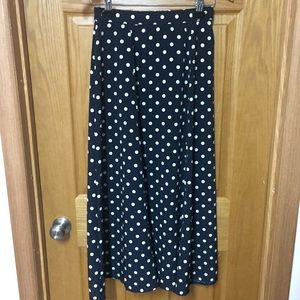 Two piece navy polka dot vintage set